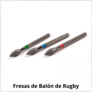 fresas de balon de rugby